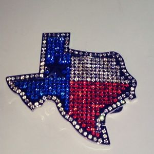 Texas Rhinestone Belt Buckle